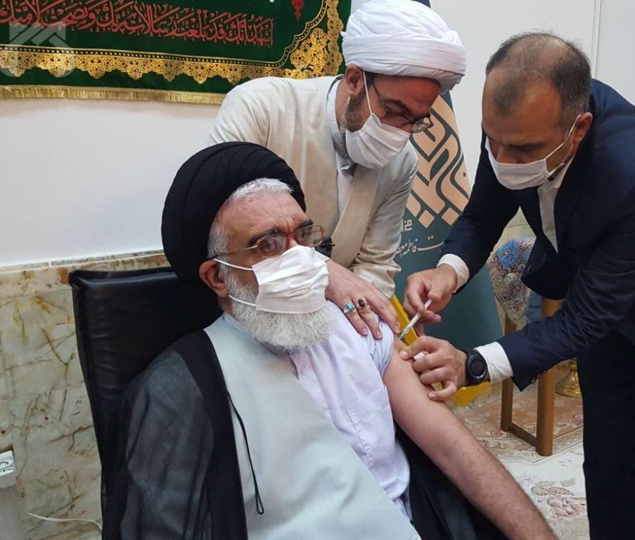 واکسن ایرانی برکت به تولیت حرم حضرت معصومه(س) تزریق شد