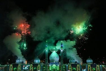 نورافشانی مسجد مقدس جمکران در شب نیمه شعبان